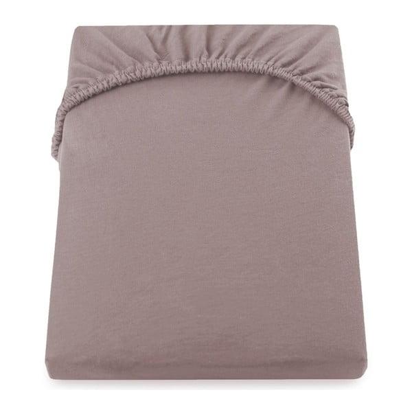 Cearșaf de pat cu elastic DecoKing Nephrite, 180–200 cm, maro-bej deschis