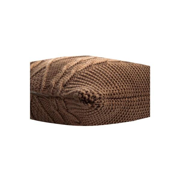 Pletený povlak na polštář Kosem Brown, 43x43 cm