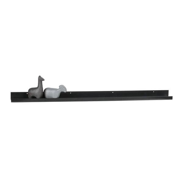 Ravi fekete, fotótartó fali polc, hosszúság 120 cm - WOOOD