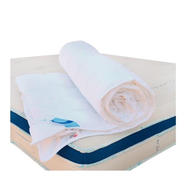 Bílá ochranná podložka na matraci s nanovlákny Life Green Future, 90x200cm