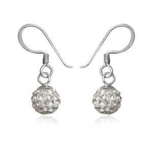 Stříbrné náušnice s krystaly Swarovski Mia