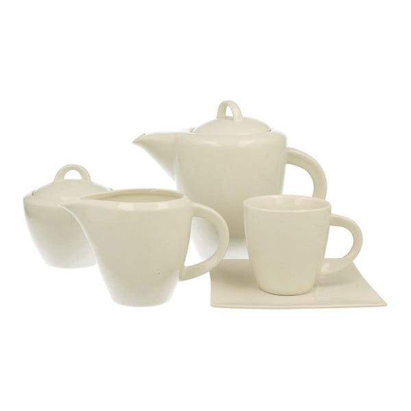 15dílný kávový set z bílého porcelánu Duo Gift
