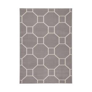 Hnědobílý koberec Kayoom Sentosa Lier,80x150cm