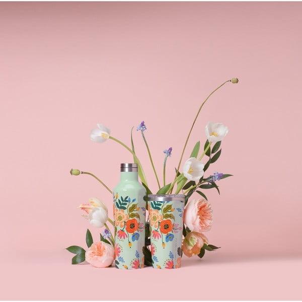 Cestovní hrnek z nerezové oceli Corkcicle Tumbler Floral,470ml