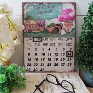 Stolní kovový kalendář Gardening Essentials