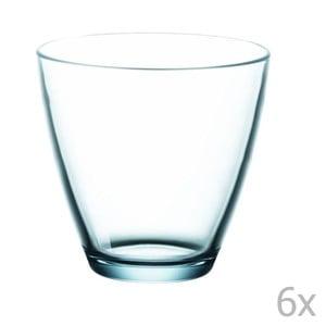 Set 6 pahare de apă Bitz Fluidum, 260 ml, albastru