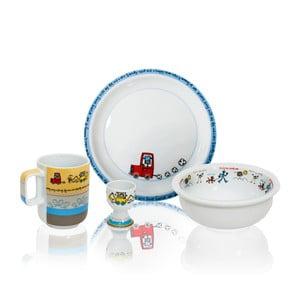 Dětský snídaňový set Silly Design Robots