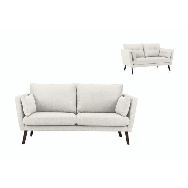 Canapea cu 3 locuri Mazzini Sofas Elena, bej deschis