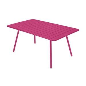Růžový kovový jídelní stůl Fermob Luxembourg