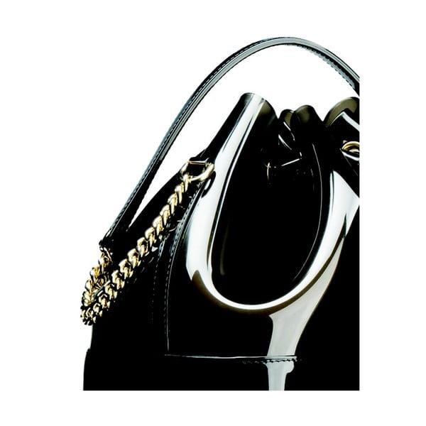 Černošedá plastová kabelka Kartell Grace K