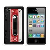 Retro obal na iPhone 4/4S Cassette, černý