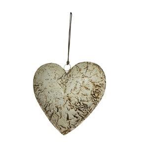 Závěsná dekorace ve tvaru srdce Antic Line Beige