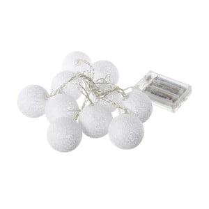 Bílý svítící LED řetěz Unimasa Pattern,10světýlek