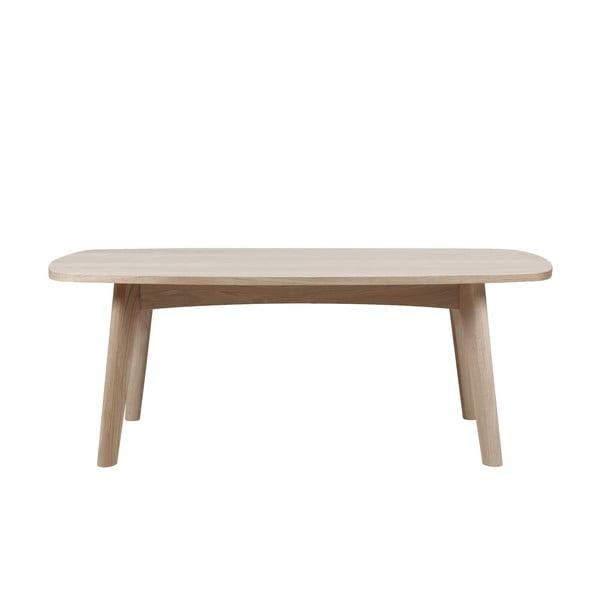 Czarny stolik z konstrukcją z drewna dębowego Actona Martel, 118x58 cm