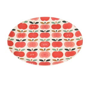 Farfurie din bambus Rex London Vintage Apple, ⌀ 25 cm