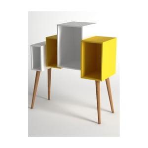Bílo žlutá knihovna Monte Lina