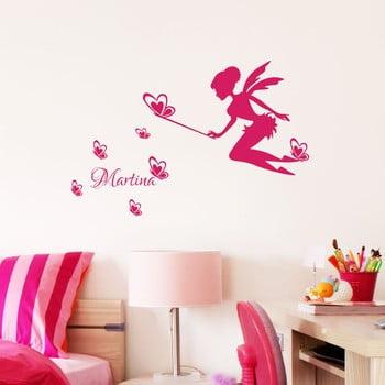 Autocolant de perete cu nume Ambiance Butterfly Fairy de la Ambiance