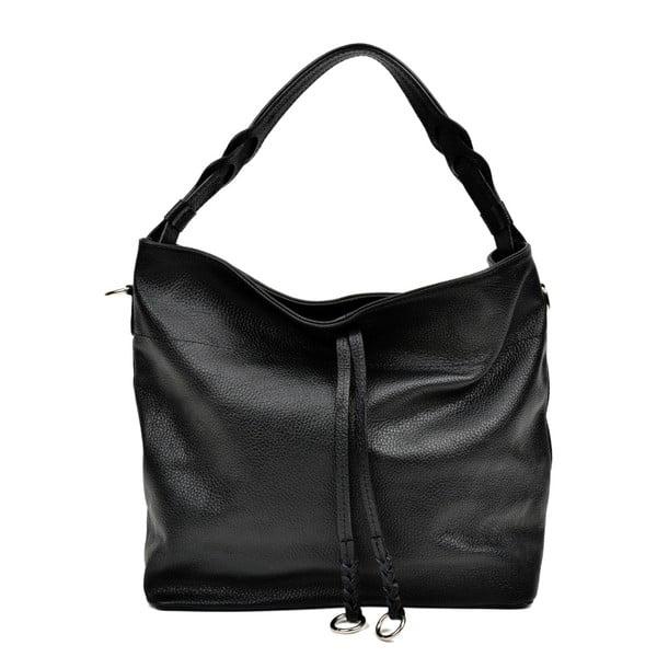 Černá kožená kabelka Carla Ferreri Camila Lento