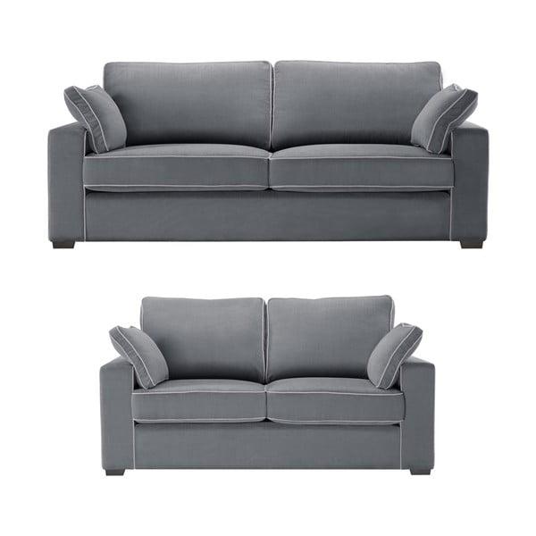 Dvoudílná sedací souprava Jalouse Maison Serena, šedá