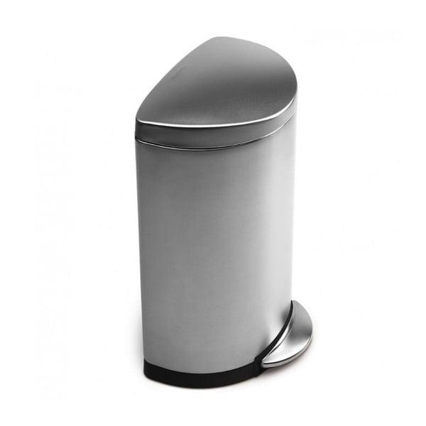 Matný stříbrný pedálový koš simplehuman, 40 l