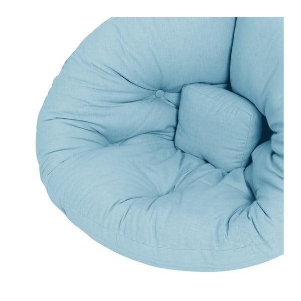 Světle modré dětské rozkládací křesílko Karup Mini Nido