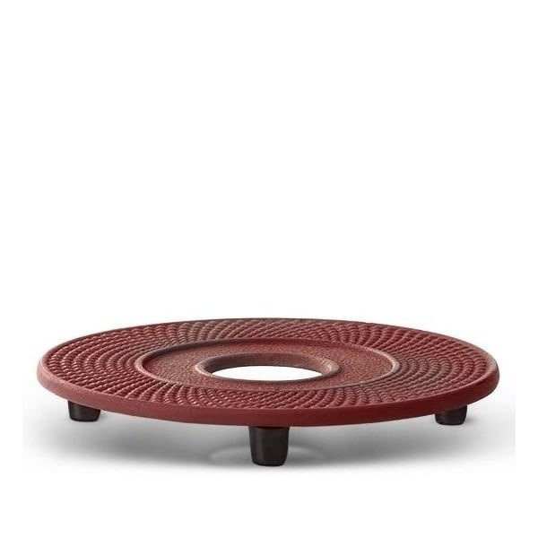 Červená litinová podložka pod konvici na čaj Bredemeijer Xilin, ⌀ 13,4 cm