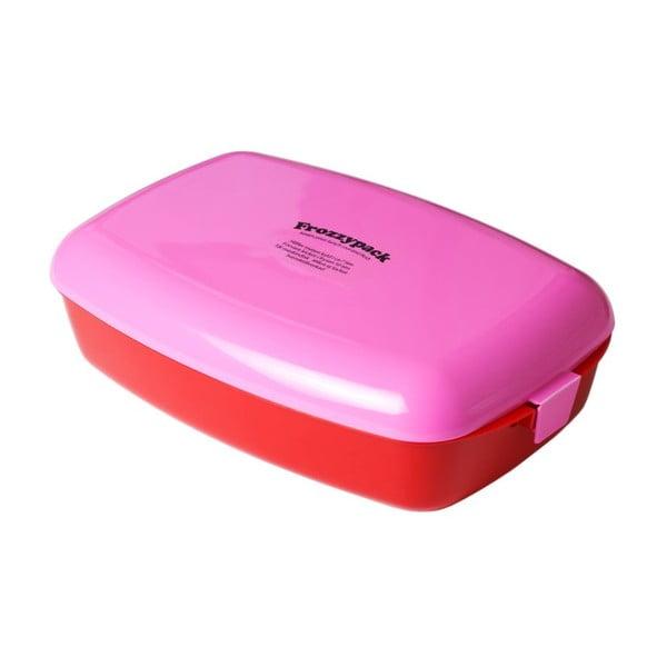 Chladící svačinový box Frozzypack no.2, red/cerise