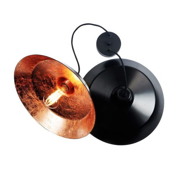 Sada dvou stropních lamp Cinco, černá/měděná