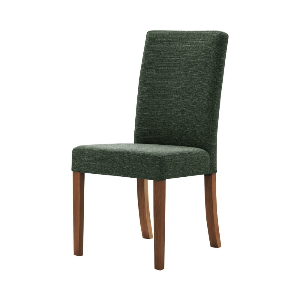 Zelená židle s tmavě hnědými nohami Ted Lapidus Maison Tonka