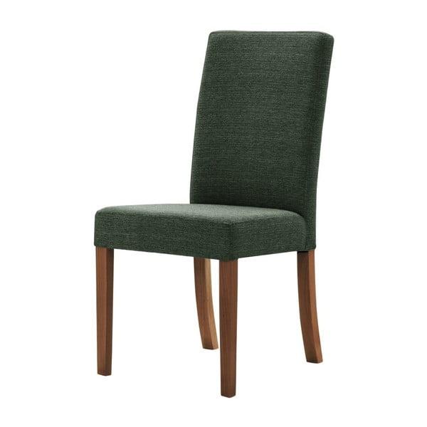 Zelená židle s tmavě hnědými nohami z bukového dřeva Ted Lapidus Maison Tonka