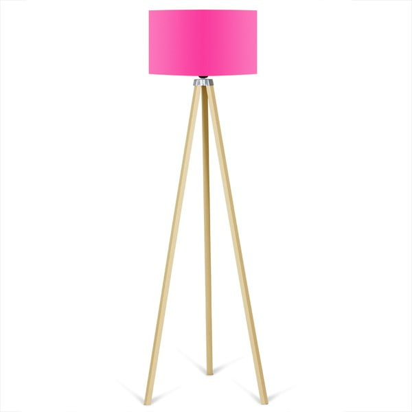 Lampadar Kate Louise Naturel, roz neon