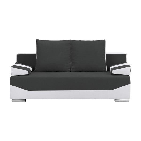 Antracitovo-šedá třímístná rozkládací pohovka s úložným prostorem Melart Marcel