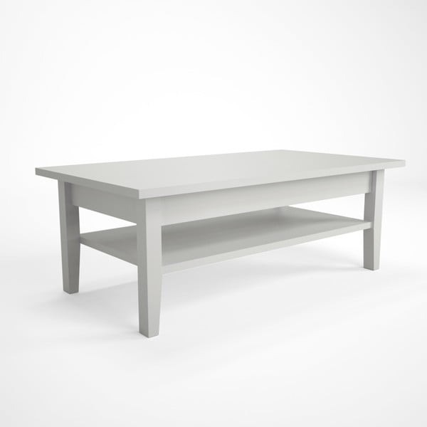 Biały stolik z drewna bukowego Artemob