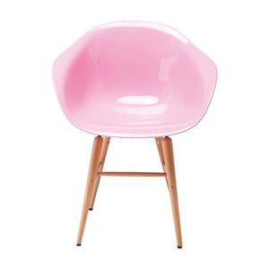 Sada 4 růžových jídelních židlí Kare Design Forum Armrest