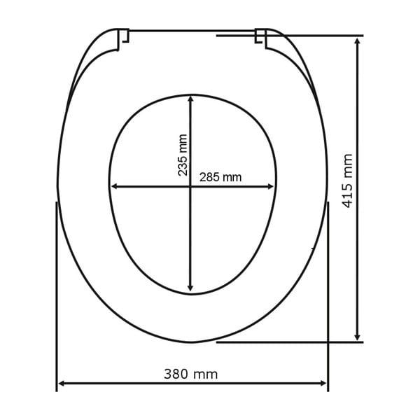 Capac WC cu închidere lentă Wenko Shell Hearts, 45 x 38,8 cm