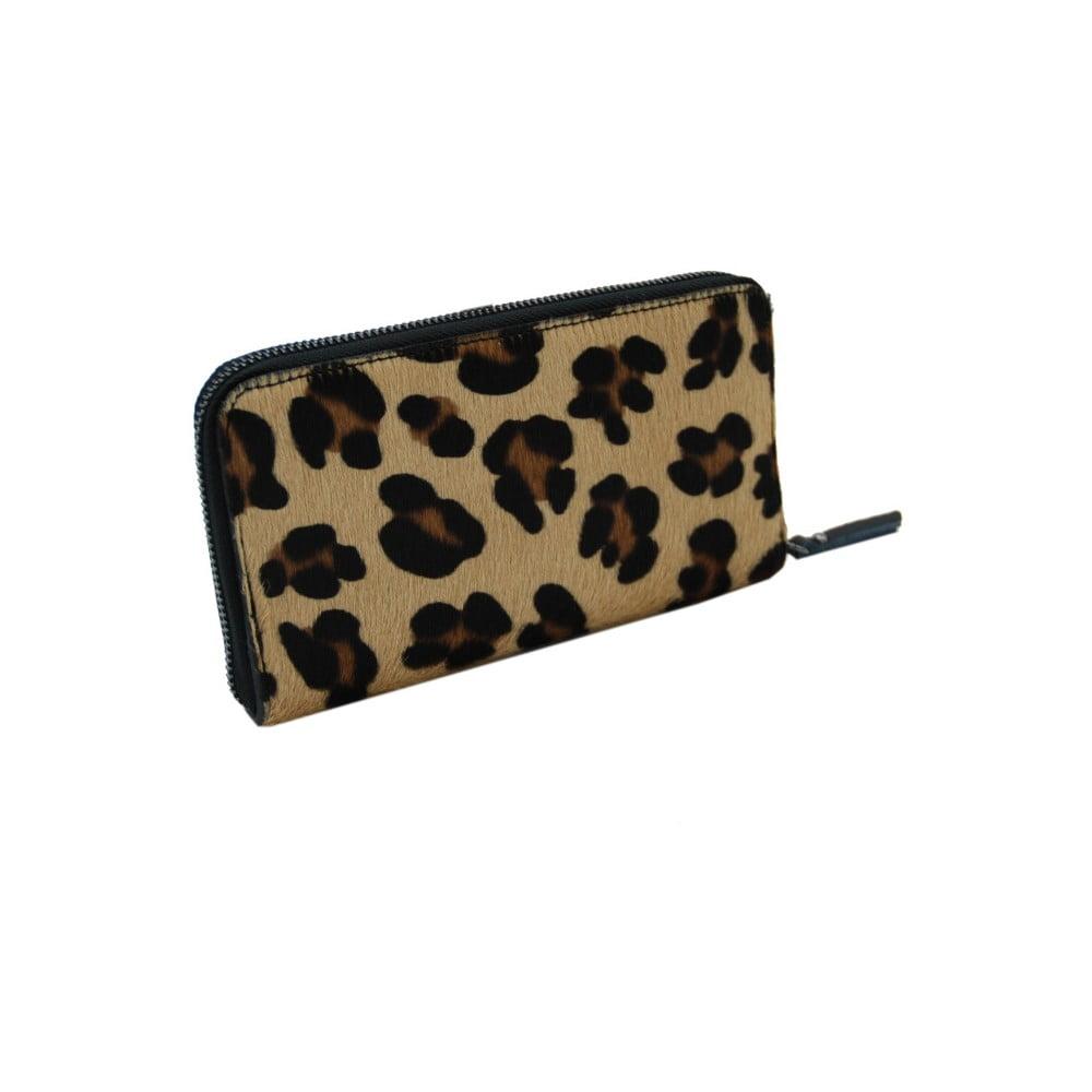 Kožená peněženka se vzorem Andrea Cardone Leopard L