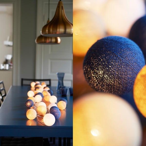 Svítící řetěz Irislights Nordic Blue, 10 světýlek
