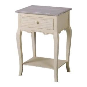 Krémový noční stolek z topolového dřeva Livin Hill Pesaro