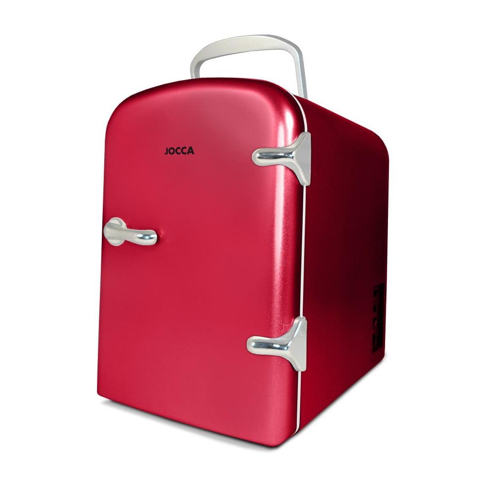 Červená přenosná mini lednička JOCCA Mini, 4 l