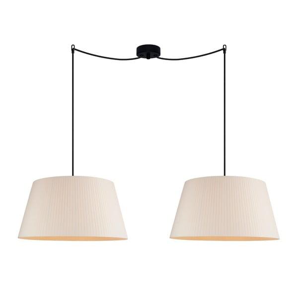 Krémové stropné svietidlo Sotto Luce KAMI Elementary L 2S
