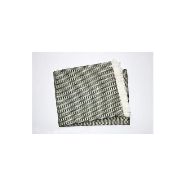 Lehká deka Skyline Moss Green, 140x180 cm