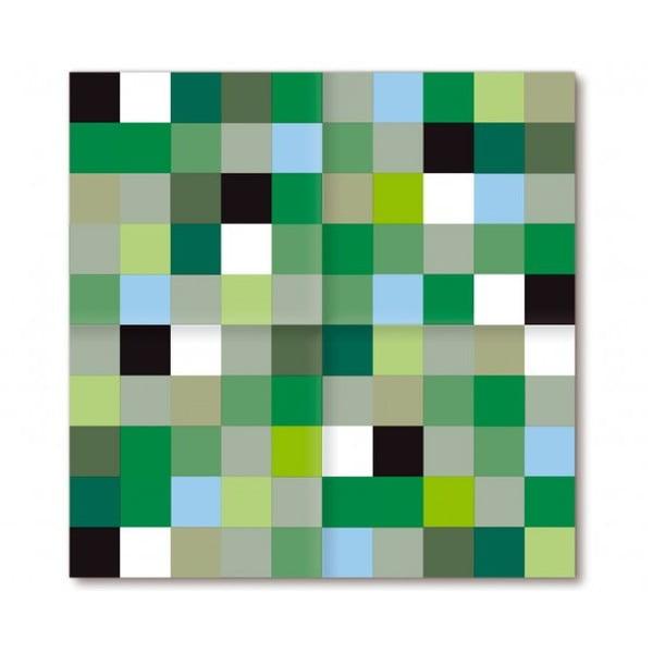Barevné ubrousky Mini Mosaic Pond, 40 ks