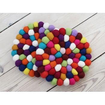 Suport pahar, cu bile din lână Wooldot Ball Coaster, ⌀ 20 cm, roșu închis imagine