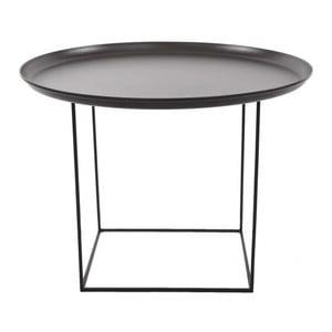 Černý střední odkládací stolek NORR11 Duke