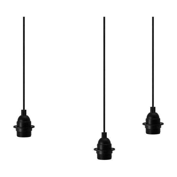 Černé závěsné svítidlo se 3 kabely Bulb Attack Uno Primary