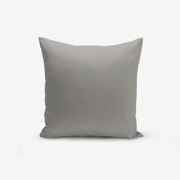 Šedý povlak na polštář Minimalist Cushion Covers Düz, 45x45cm
