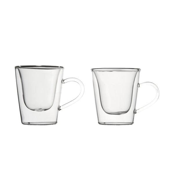 Set 2 pahare cu pereți dubli pentru espresso Bredemeijer, 120 ml
