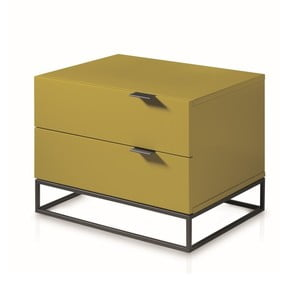 Žlutozelený noční stolek Ángel Cerdá Fidelia
