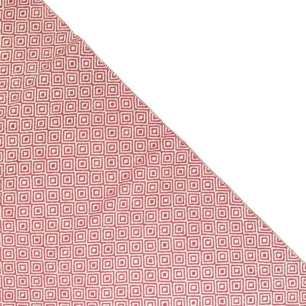 Vlněný koberec Geometry Rhomb Pink & White, 160x230 cm