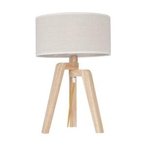 Stolní lampa s dřevěnou základnou Silvana